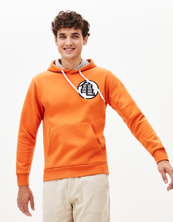 Dragon Ball - Sweat à capuche - LPESCHOOL_ORANGE - Vue de face - Celio France