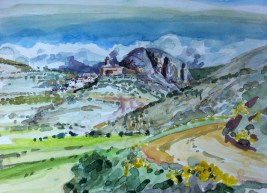 Calasanz (acuarela de Fernando Alvira)