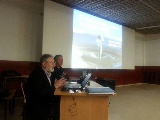 Álvaro Enrech en un momento de la conferencia «El mitin de Joaquín Costa y el derecho a regar»