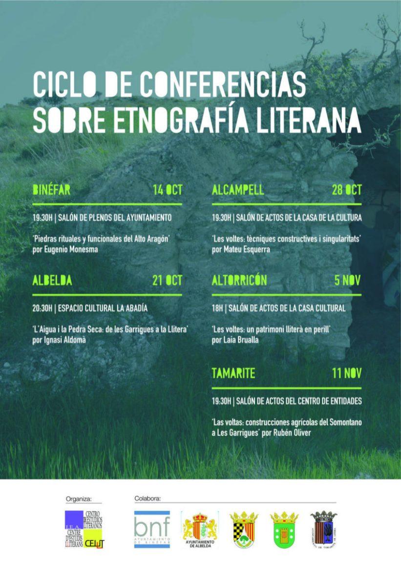Cartel del ciclo de conferencias 'Etnografía literana' 2016