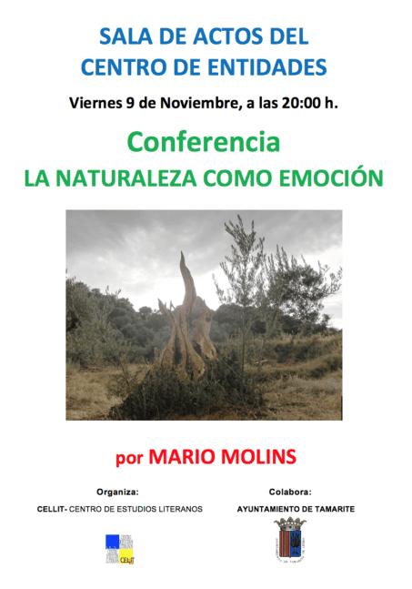 Cartel de la conferencia «La naturaleza como emoción»
