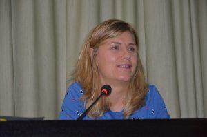 Judith Prat durante la conferencia «La fotografía: el mundo en imágenes» (foto Paco Aznar / Somos Litera)