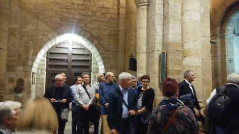 Visitando Santa María del Romeral (foto CEHIMO)