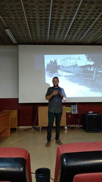 Mario Molins durante la conferencia «La naturaleza como emoción»
