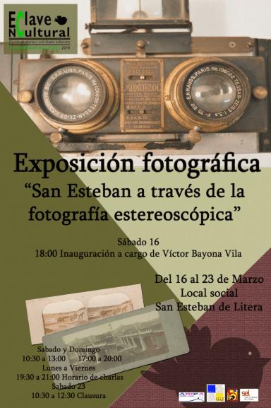 Cartel de la exposición 'San Esteban a través de la fotografía estereoscópica'