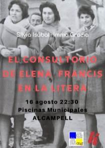 Cartel de la conferencia «El consultorio de Elena Francis en la Litera» en Alcampell