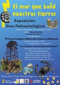 Cartel de la exposición 'El mar que bañó nuestras tierras' y conferencias relacionadas, en Alcampell