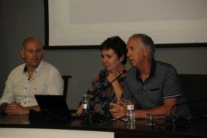 Introducción de la conferencia «El mercader binefarense Cervera Roche» (foto Imma Gracia / La Litera información)