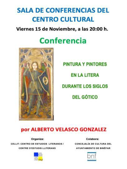 Cartel de la conferencia «Pintura y pintores en la Litera durante los siglos del gótico»