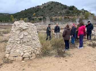 Visita de campo a las salinas de Caserras del Castillo (foto Imma Gracia / La Litera información)