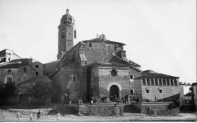 Albelda, 1957: iglesia (colección Delfina Esteve)
