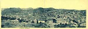Tamarite de Litera: vista general (postal, colección Ignacio Enjuanes, depositario CELLIT)