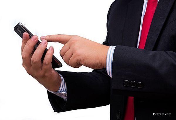 browsing internet on mobile