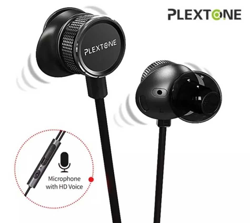 PLEXTONE G15 Earphone 3.5mm Magnetic Stereo Gaming Earohone-Black