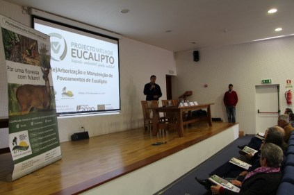 Francisco Goes, coordenador do Projecto Melhor Euclaipto, abriu a sessão de informação