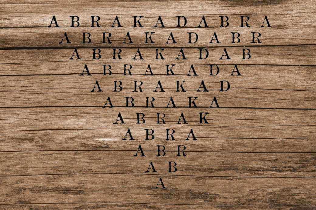 Zauberformel Abrakadabra