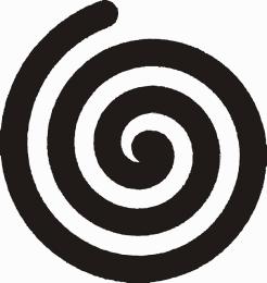 Linksdrehende Spirale