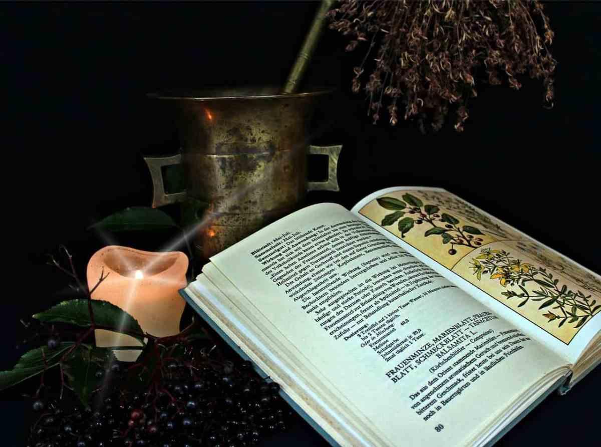 Das magische sieben Heilkräuterpulver