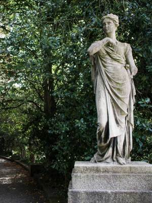 Statue in the Iveagh Gardens, Dublin