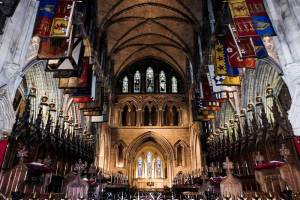 Inside St Patrick's Cathedral, Dublin, Ireland