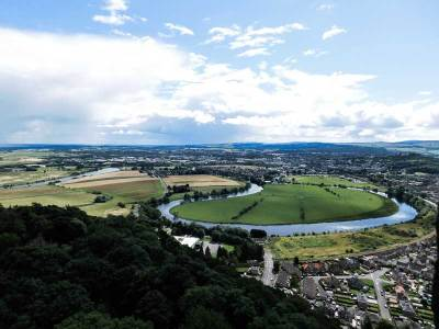 View from the top of the National Wallace Monument, Stirling