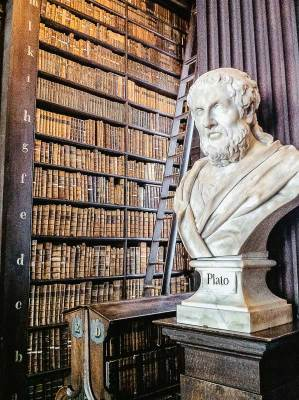 Plato Marble Bust In Trinity College Old Library, Dublin Ireland