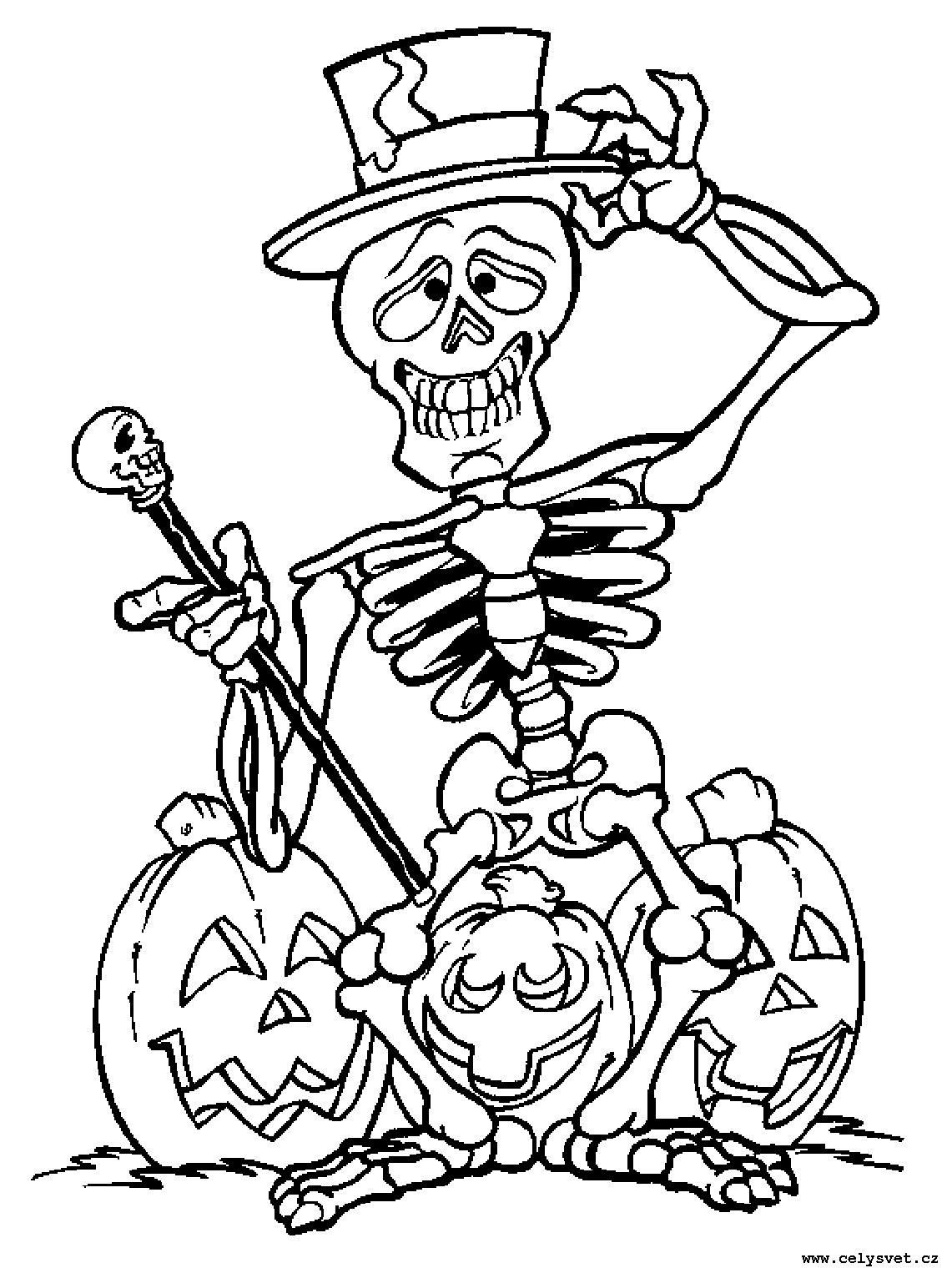 Omalovanka Svatky Halloween