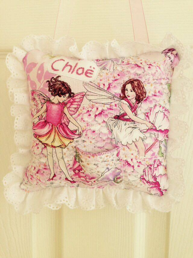 Baby Methodical Tooth Fairy Pillow-pink/purple Butterfly-lost Tooth/money Goes In Back Pocket