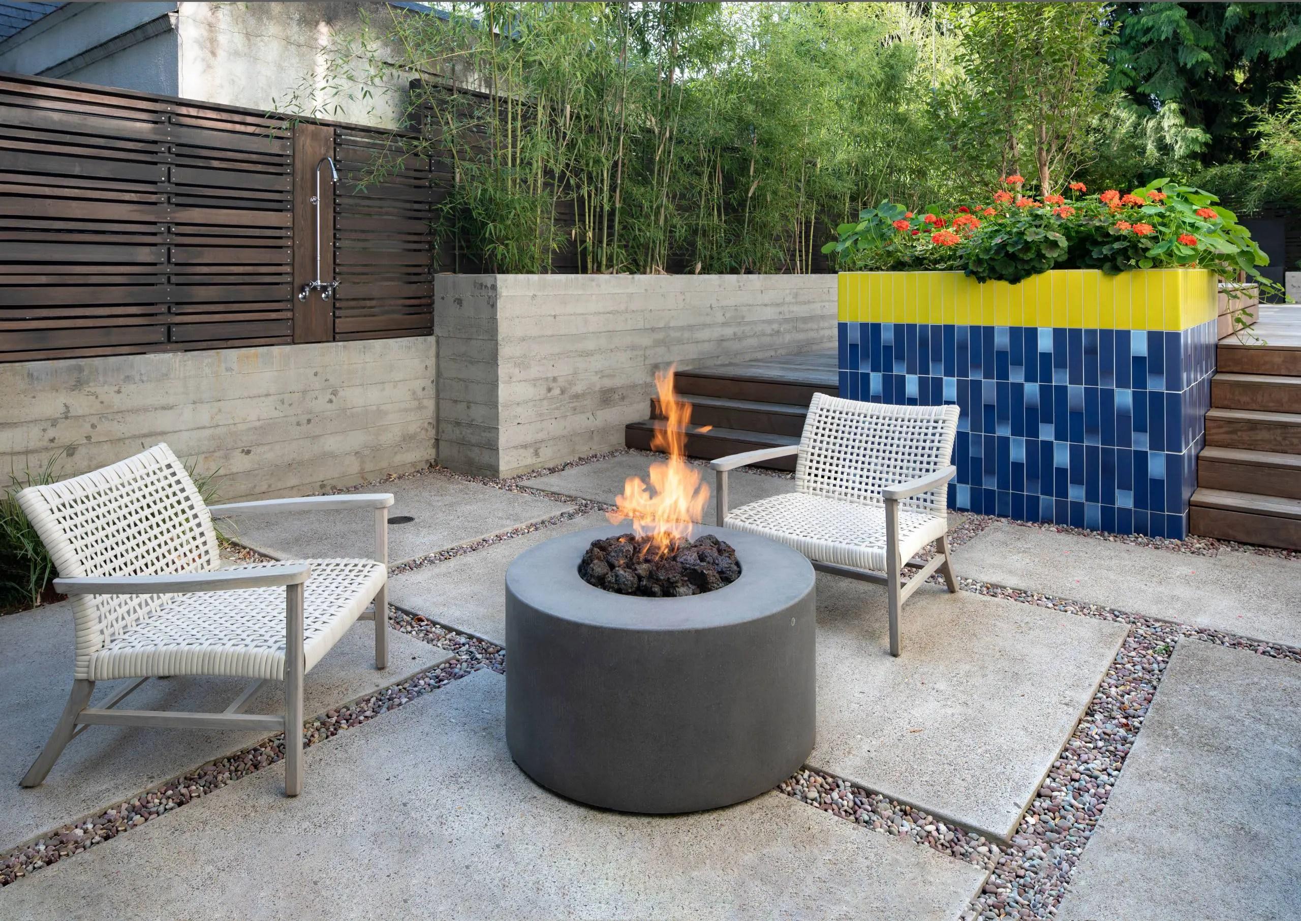 naturecast concrete outdoor fire pits