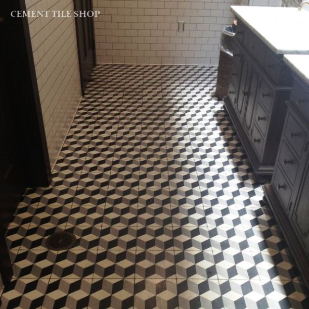 Black White And Grey Cement Tiles Cement Tile Shop Blog
