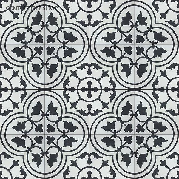 encaustic cement tile bouquet iii