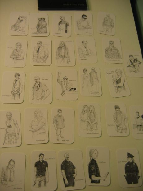 The character artwork playing cards.