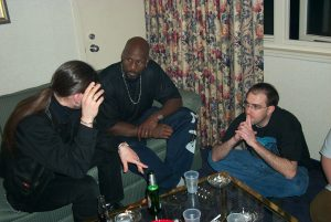 Alan imparting wisdom on a young Wrath James White and a young Brian in 2002. (Photo Copyright 2002 James Futch)