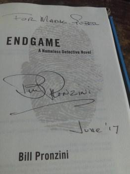 Mark Sieber's signed copy of Endgame