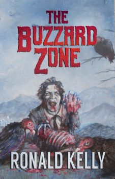 Book cover showing a zombie eating flesh