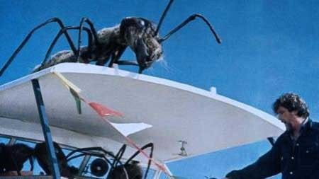 Scene from movie Empire of the Ants featuring a giant ant
