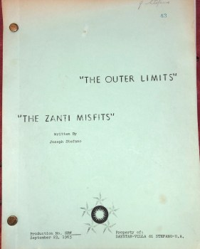 """cover of the Outer Limits episode """"The Zanti Misfits"""""""