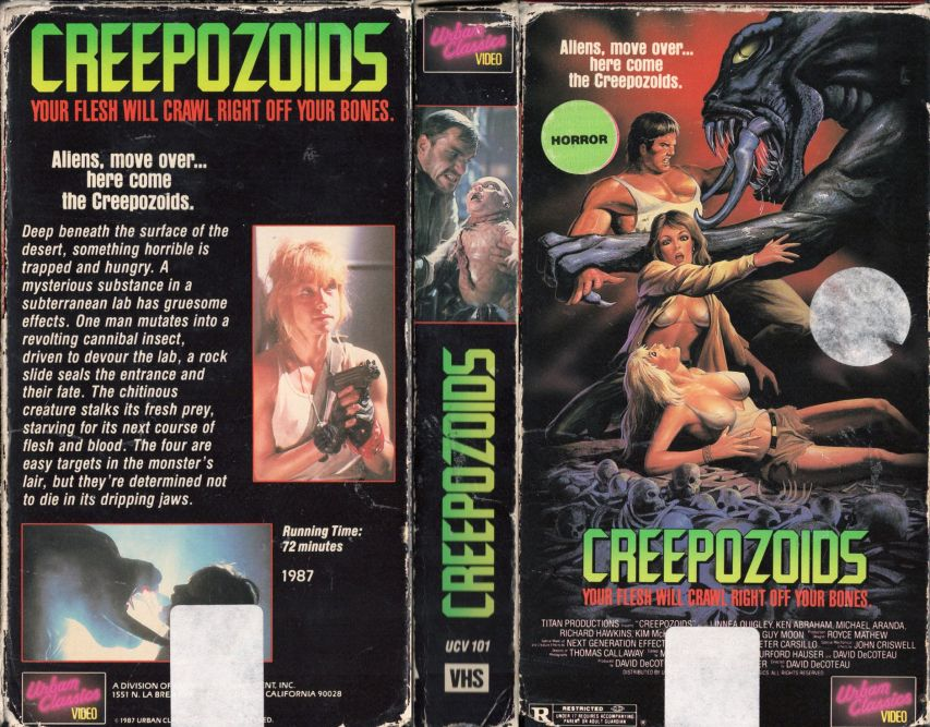 vhs cover of Creepozoids
