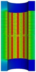 Champs de température dans un électro-aimant