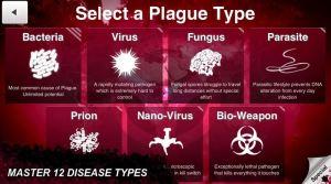Plague Inc - Hastalık Türleri