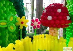 Jardim com cogumelo gigante divertifamente