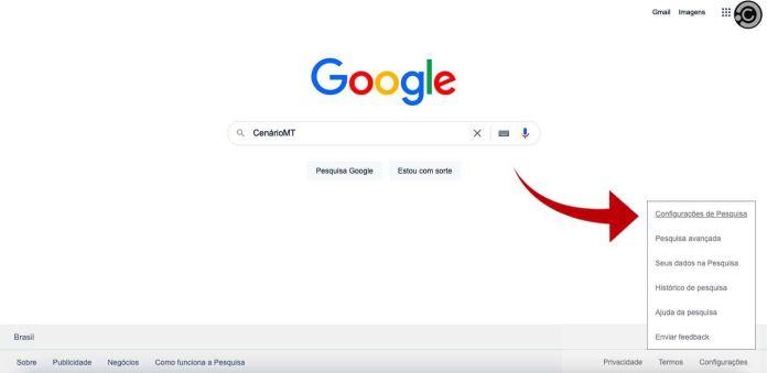 Aqui mostra como botar o Google preto — Foto: Reprodução/CenárioMT