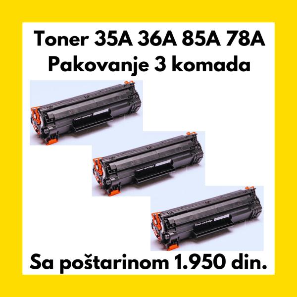 Toner 35A 36A 85A 78A Pakovanje 3 komada
