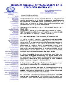 Documento Orientador y formato de firmas para el amparo contra el decreto 2015