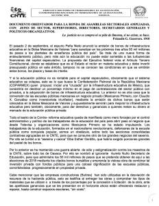 Documento orientador para la ronda de Asambleas Sectoriales Septiembre 2015(1:2)