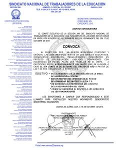 Convocatoria para la actividad del 26 de octubre de 2015
