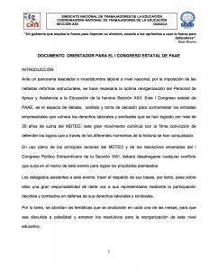 Documento orientador para el I Congreso Estatal de PAAE marzo 2016(1:9)
