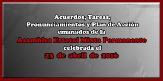 ACUERDOS Asamblea Mixta 23 de abril 2016