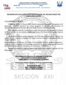 Boletín -  Desmiente seccion xxii - 28 abril 2016