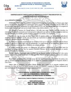 Boletín - Empresarios impulsan la desigualdad 17 abril 2016